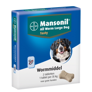 Mansonil Large Dog Tasty 2 Tabl. 1 st.