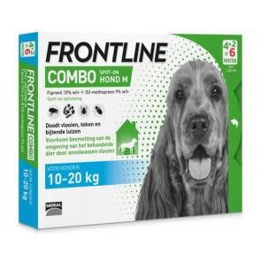 Frontline Combo® Hond M, van 10 tot 20 kg 4+2