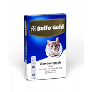 Bolfo Gold Kat 80, Vlooiendruppels Voor Katten Van 4 Tot 8 Kg 4 pipet