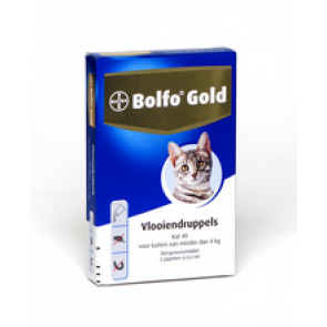 Bolfo Gold Kat 80, Vlooiendruppels Voor Katten Van 4 Tot 8 Kg 2 pipet