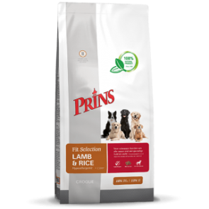 Prins Fit-Selection Lam & Rijst Hypo-Allergeen 15 kg