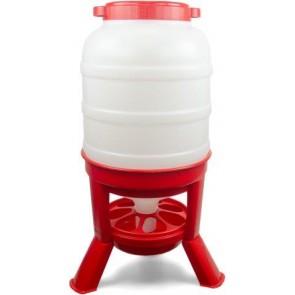 Pluimvee voertoren 20 liter rood hopper op pootjes