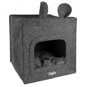 Let's sleep Pet Cave Chunk  Antraciet