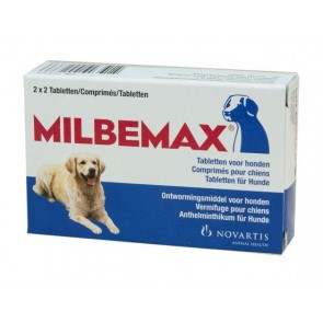 Milbemax Tabletten Hond Groot 4 tabl. 5-75kg