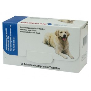 Milbemax Tabletten Hond Groot 50 tabl. 5-75kg
