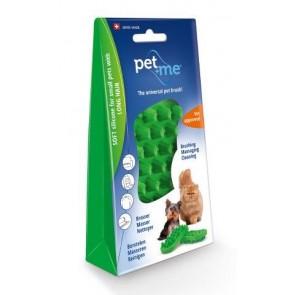 Pet+Me Cat long hair brush green