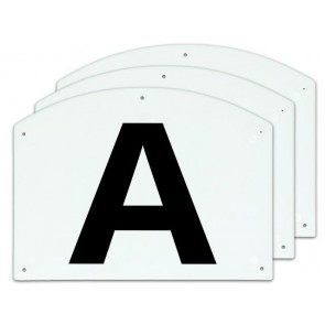 Show Jump letters A/B/C 27x20cm
